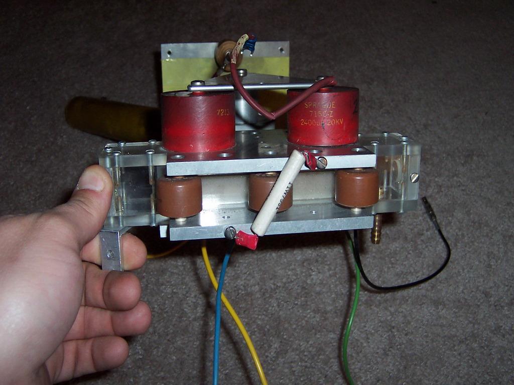 Tea Nitrogen Laser Project Part 1 Jons Hobby Lasers High Voltage Power Supply Surplus Head 2