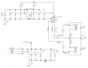 TEA Nitrogen Laser Schematic Partial